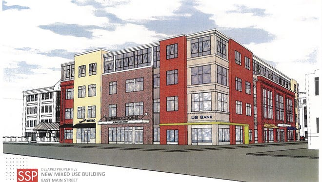A new multi-use building at the corner of E. Main and Warren streets in Somerville will bring retail, office and luxury apartment space to this downtown area.