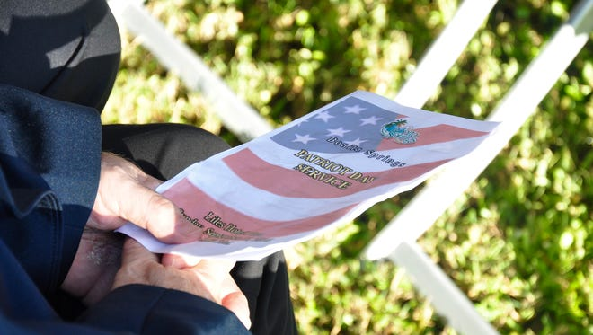 The City of Bonita Springs held a Patriot Day service at Riverside Park on Sunday, Sept. 11, in rememberance of the 3,000 who were killed that day in 2001 in terrorist attacks.