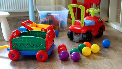 A stock image of children's toys.