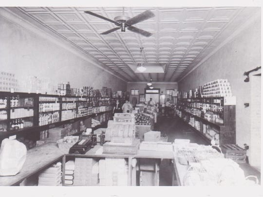 Maurice Heymann, one of the businessmen who most influenced Lafayette's growth in the 20th century, started a retail empire when he bought and opened this store in Lafayette in 1916. This photo shows how the interior of the store looked that first year.