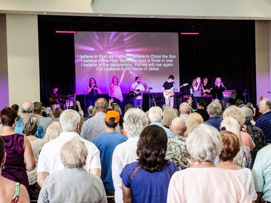 Hundreds of people attended the Gerald Sharon and Rick Baulard's first service and HOPE Lutheran Church in Palm Springs on November 6th.