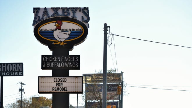 The Zaxby's restaurant on Clemson Boulevard has been demolished, and on Oct. 27, 2017, the sign said the location is closed for remodeling.
