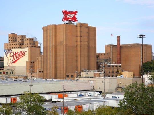 The Miller brewery is a major presence on Milwaukee's