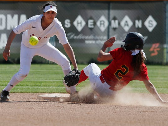 Jasmine Perezchica, of Palm Desert High School steals