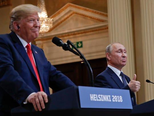 U.S. President Donald Trump and Russian President Vladimir