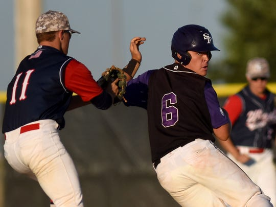 Sioux Falls Post 15 West's Chandlar Austin chases down