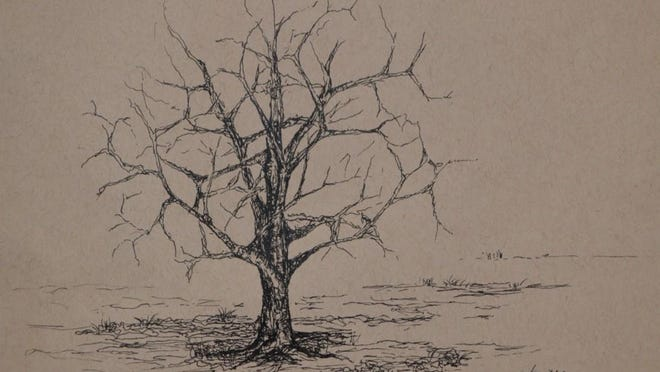 """Tree"" by Tess Zizak will be among the pieces on display at Cooperative Gallery in February."