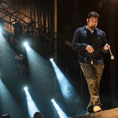 Chino Moreno from Deftones performs at 2015 Rock in