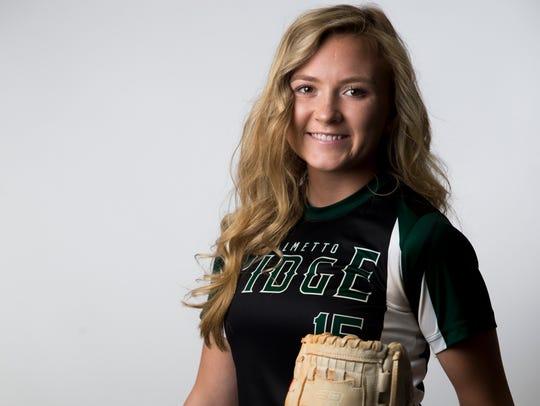 Palmetto Ridge softball player Baylee Haggard.