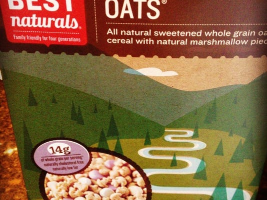 While Mallow Oats has a high sugar content, it 's much better than the sugar content in Lucky Charms. So, it might be a good first step to weene your child off of the sugary cereal. iPhone photo by Ashley May