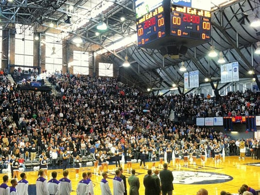 First trip to Hinkle Fieldhouse, and it was all it's cracked up to be only because 9,000-plus showed up to see Butler play off a win over top-ranked Indiana.