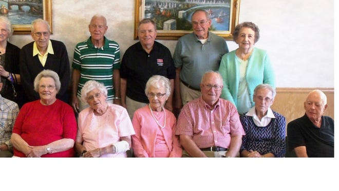 Surviving members of Dansville Central High School's class of '45 celebrated their 70th reunion.