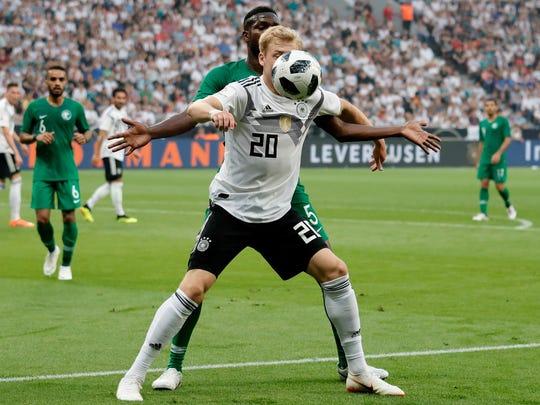Germany's Julian Brandt during an international friendly against Saudi Arabia.