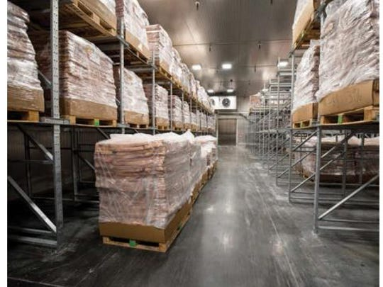 Interior view of refrigerated storage