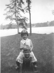 In happier times: A childhood photo of Nancy Henderson and her older brother Roddy.