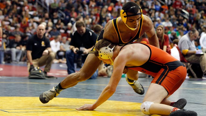 Deion Mikesell of Southeast Polk defeated Taylor Mehmen of Cedar Rapids Prairie 7-2 in the 195-pound quarterfinals in Class 3-A on Friday.