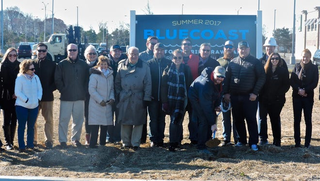 SoDel Concepts breaks ground on the company's 10th restaurant, a second Bluecoast, which is expected to open early summer 2017.
