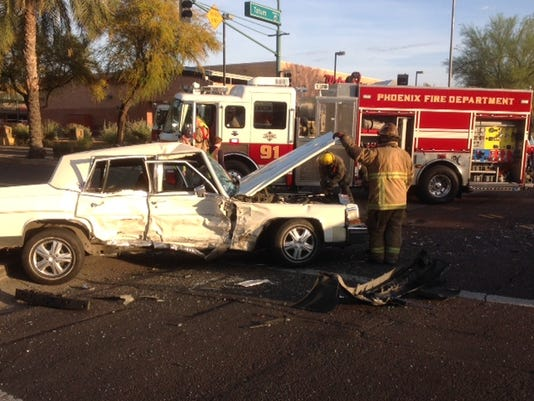 Cadillac crushed after cras