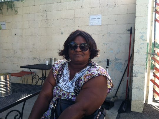 Gwendolyn Celestine is homeless and staying at the Opportunity Center for the Homeless.