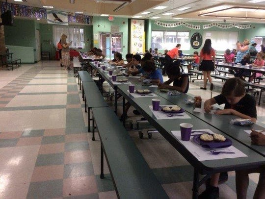 Manners class taught by the Project Table Etiquette