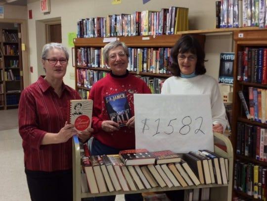 Book Committee members (L-R) Eileen Mannebach, LeeAnn