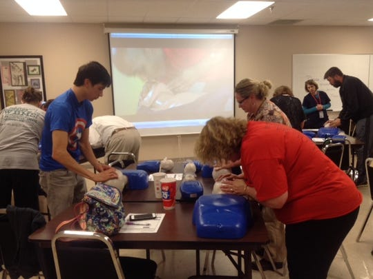 Rutherford County Schools students and staff regularly train in CPR techniques. Their preparedness recently saved an  adult's life at an after school activity.