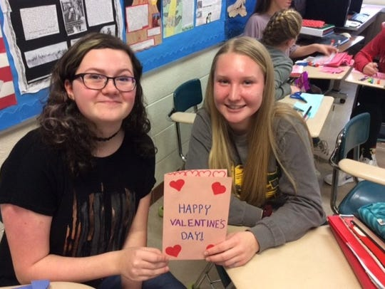 Everest students crafted cards and wrote poetry to