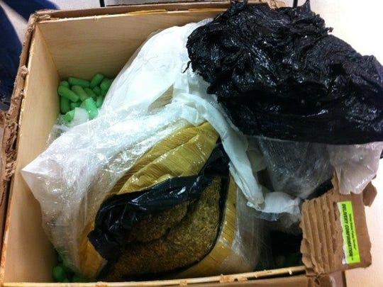 Marijuana shipment caught by authorities.