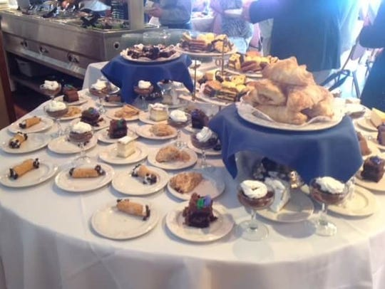 The dessert table at The Jefferson House's Easter Sunday