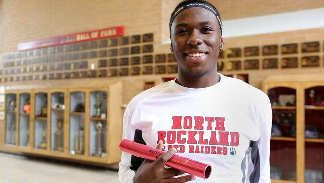 Wyatt Brooks of North Rockland, our boys Rockland track and field athlete of the winter, is photographed at North Rockland High School, March 14, 2016 in Thiells.