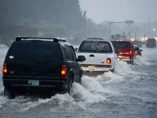 Images of flooding around Fort Pierce on January 9,