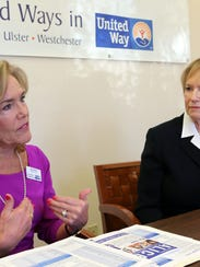 Mimi Vilord, left, CEO Rockland United Way, and Alana