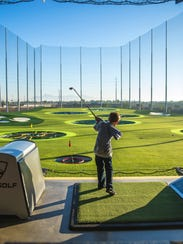 Children can take advantage of the driving range at