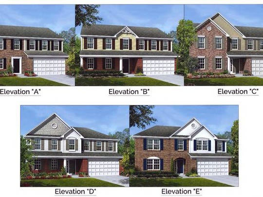 These are examples of what kind of single-family dwellings M/I Homes  wants to build on a 51-acre site off West Chester Road.