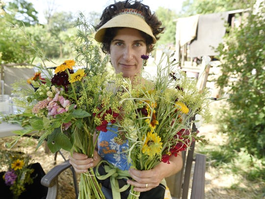 More than 150 annuals and biennials grow on the farm that Sarah Pappas expanded to an additional three lots.