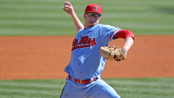 Brady Feigl will start Ole Miss' SEC Tournament opener on Tuesday.