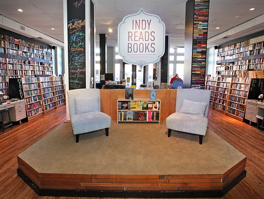 An overall interior of a portion of Indy Reads Books