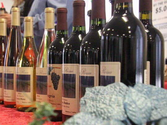 The Luna Rosa Winery in Deming was one of three regional wineries who were set up at the Winter Wine Festival Friday and Saturday. Nine wineries total were at the festival.