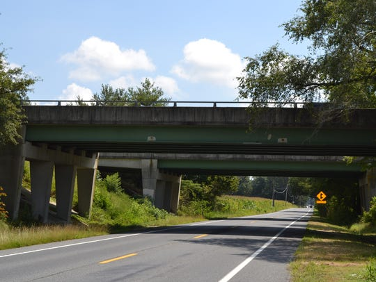 Two bridges on the Salisbury Bypass that cross over