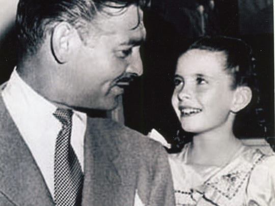 Clark Gable and Margaret O'Brien.
