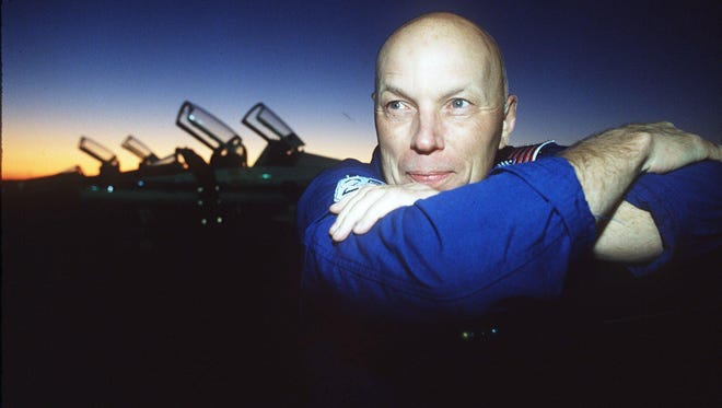 Story Musgrave flew on all five space shuttle orbiters: Columbia, Challenger, Endeavour, Atlantis and Discovery.