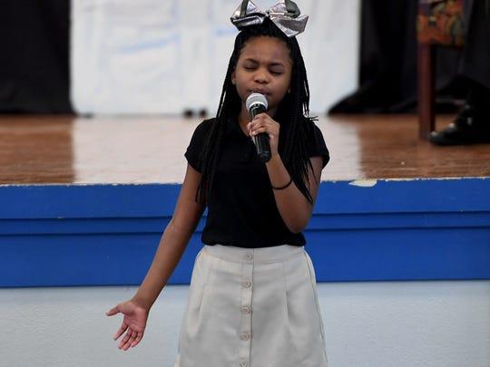 Alexander Elementary School 5th grader Janiah Sears
