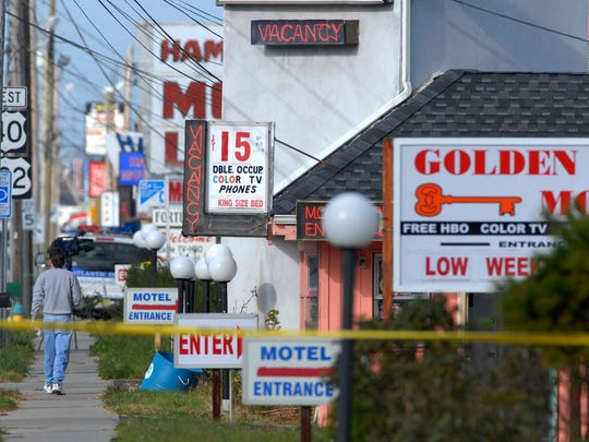 The Golden Key Motel shares the side of Route 322 with other motels in Egg Harbor Township, N.J. On Monday, Nov. 20, 2006, the bodies of Molly Jean Dilts, Barbara Breidor, Tracy Ann Roberts, and Kim Raffo were discovered in a ditch behind the string of cut-rate motels known for drugs and prostitution.
