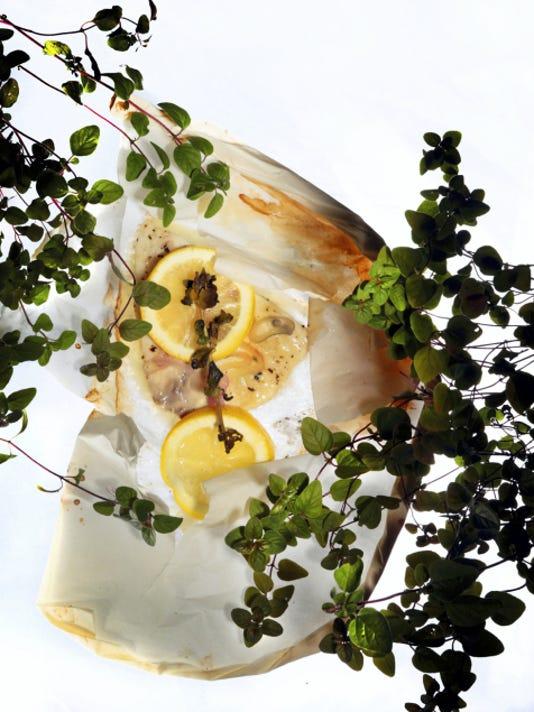 White Fish Limani en Papillote. (Robert Cohen/St. Louis Post-Dispatch/TNS)