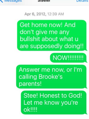 Last texts: Mother to son