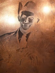 This copper photo plate was used to make Hank Williams'
