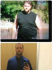 Steven Hayes has lost 70 pounds and now competes in triathlons.
