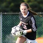 Northville goalie Abby Henzi stopped a breakaway shot in a 2-2 tie against Salem on senior night.