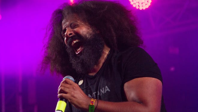 Reggie Watts sings during the Superjam session at the Other Tent on Saturday June 13, 2015 at the Bonnaroo Music and Arts Festival in Manchester, TN.
