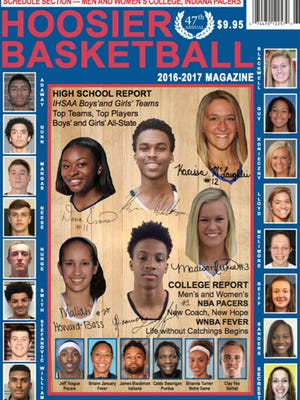 2016-17 Hoosier Basketball cover features Jack Nunge and Zion Sanders